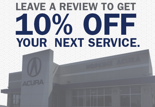 10 Off Next Service Special At Hopkins Acura Of Fairfield